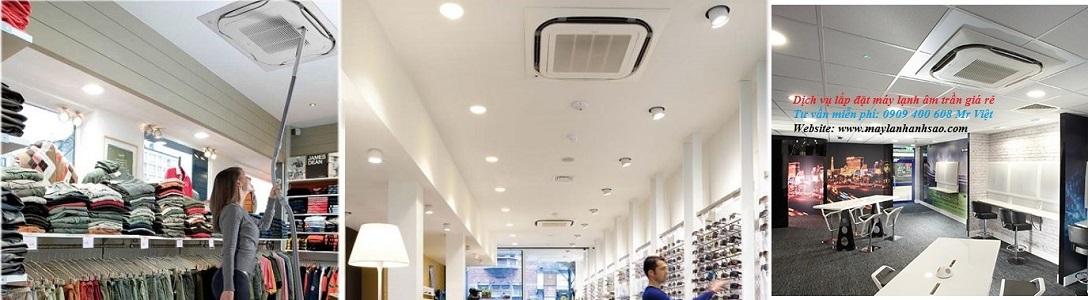 Dịch vụ thiết kế lắp đặt máy lạnh âm trần Daikin kiểu sang trọng cho cửa hàng,shop quần áo,showroom 0