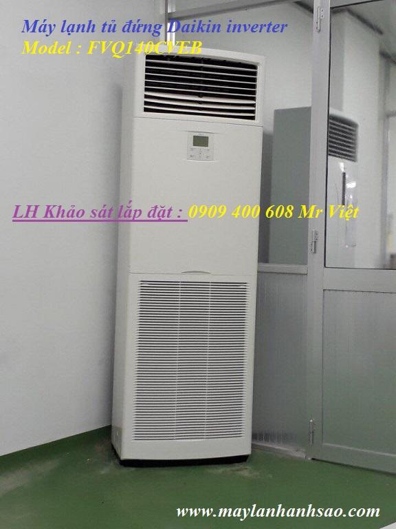 Dịch vụ tư vấn lắp đặt máy lạnh tủ đứng Daikin 3 ngựa FVQ71CVEB Inverter Gas R410a-Dieu hoa tu dung