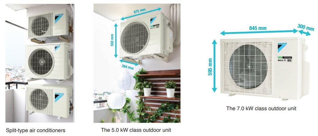 Điều hòa Multi-S Daikin - Chỉ một dàn nóng sử dụng cho 3 phòng - Phù hợp cho căn hộ chung cư - 267119