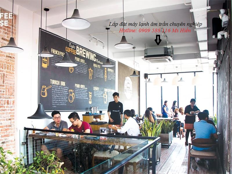 Dịch vụ thiết kế - thi công máy lạnh âm trần cho coffee house,quán trà sữa - Tư vấn miễn phí - 263927