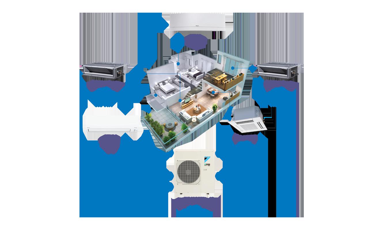 Kỹ sư lắp đặt máy lạnh Multi chuyên nghiệp cho căn hộ tại quận 2