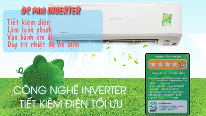 Máy lạnh treo tường Mitsubishi Heavy SRK10YT-S5 (1.0Hp) Inverter - 261577
