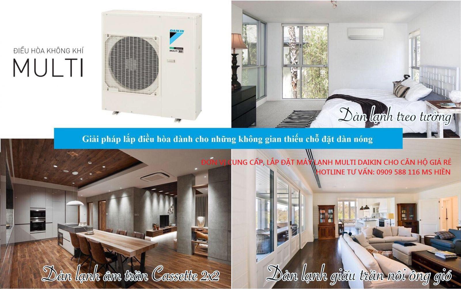 Máy lạnh Multi Daikin – Tiết kiệm diện tích đặt dàn nóng, hiệu suất cao & tiện nghi