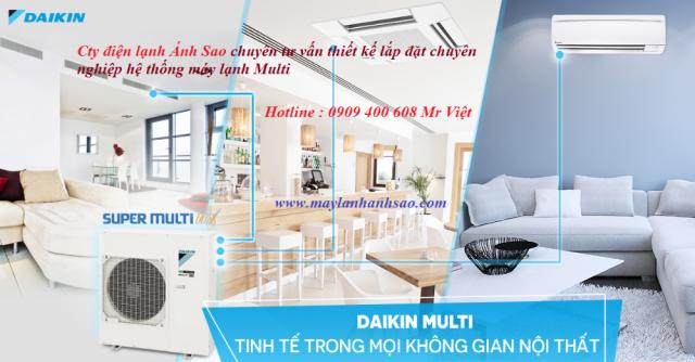 Chúng tôi chuyên thầu lắp máy lạnh Multi Daikin cho căn hộ tại chung cư quận 2,quận 7 giá siêu rẻ