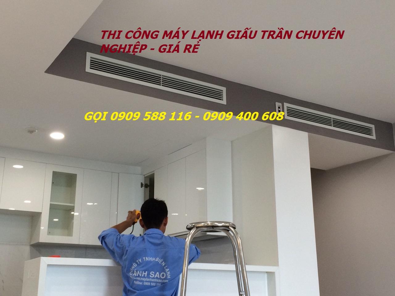 Chuyên lắp đặt Máy lạnh giấu trần Daikin nối ống gió cho căn hộ