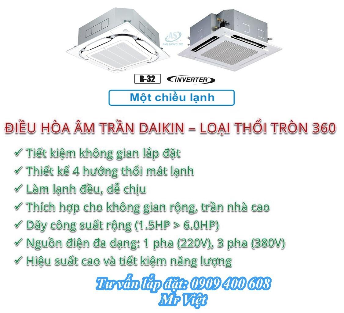Đại lý phân phối máy lạnh âm trần Daikin chính hãng, giá cạnh tranh tại TPHCM