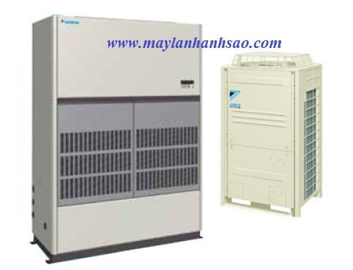 Tư vấn - Thiết kế - Thi công máy lạnh tủ đứng Daikin FVPGR10NY1 nối ống gió cho nhà xưởng